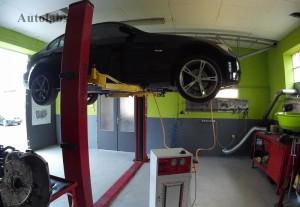 BMW 320 výmena oleja v automatickej prevodovke strojom na preplach a výmenu oleja