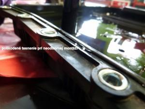 BMW 320d poškodené tesnenie pri neodbornej montáži