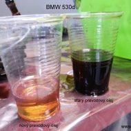 bmw 530d 2003 porovnanie stareho a noveho prevodoveho oleja
