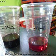 hyundai terracan 2003 porovnanie stareho a noveho prevodoveho oleja