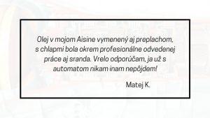 matej recenzia na servis automatických prevodoviek