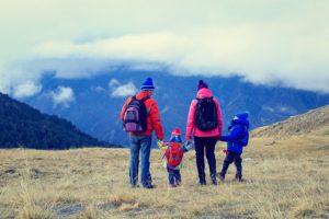 výlet s rodinou do hôr